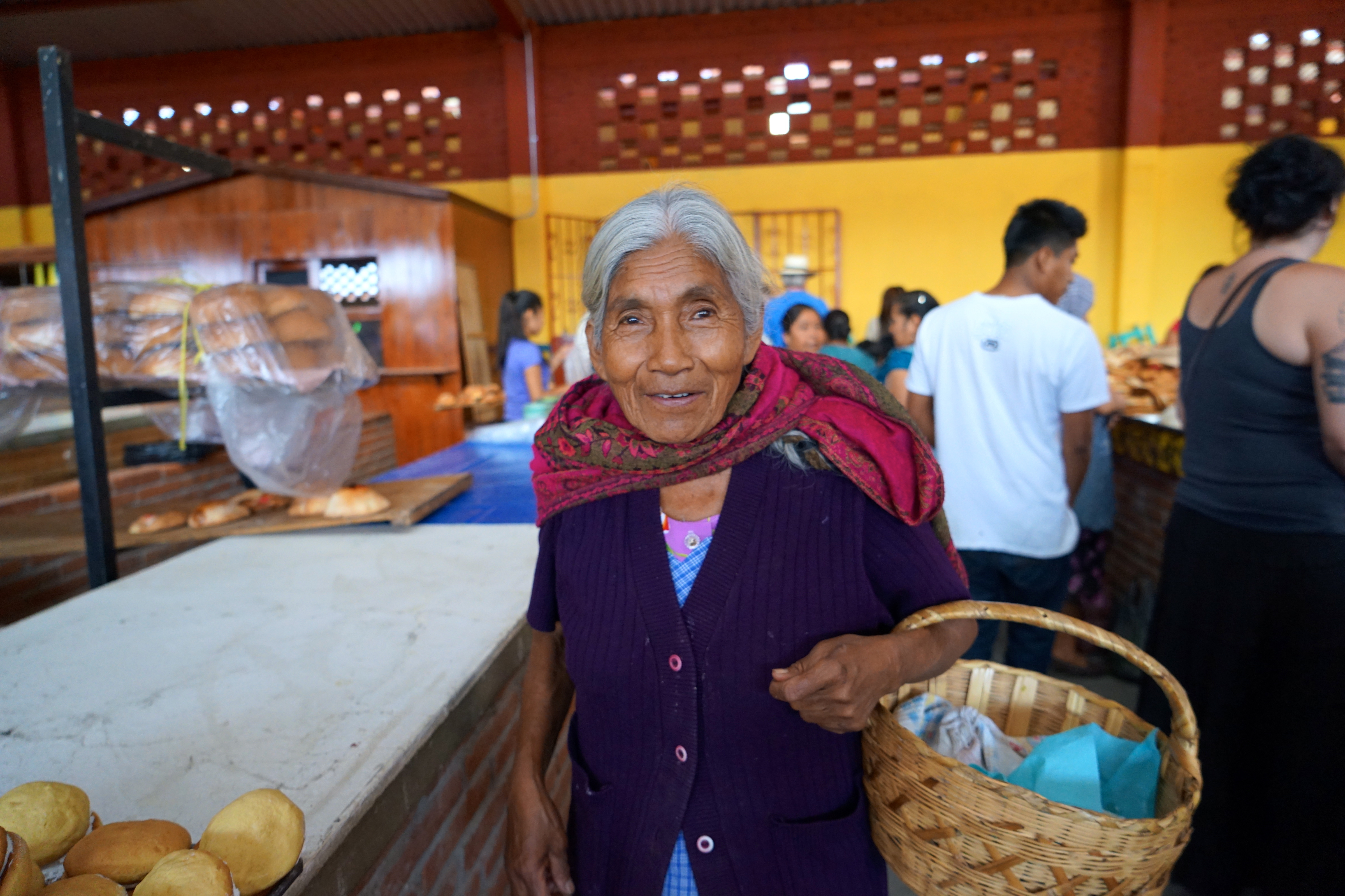 A woman in Teotitlan morning market