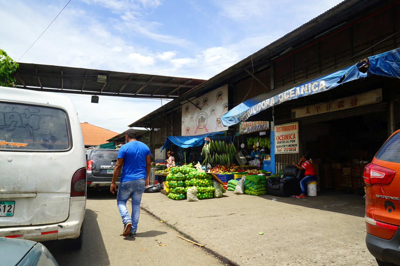 A fruit market in Panama city is probably a hundred years old still run rustically. Farmers bring their produce selling off the car decks. Customers drive through the market on their vehicles too.
