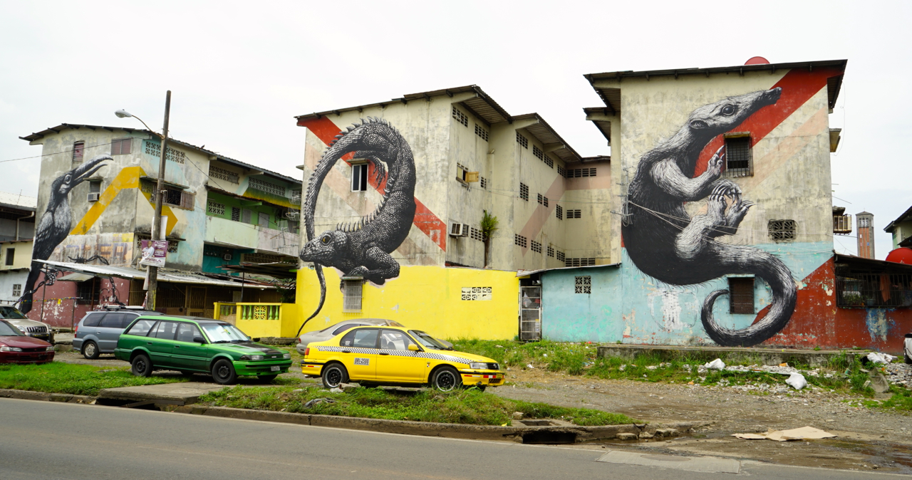 Santana Area is considered to be the most dangerous part of the city. The murals are made by artists who gathered in Panama in 2013 in celebration of its 500 year anniversary.