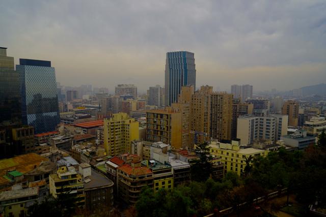 Вид на Сантьяго с горы Серра Санта Лучия