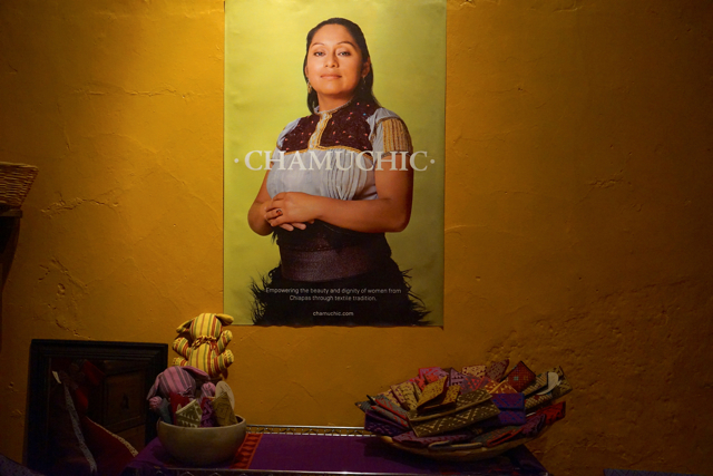 Poster from Chamuchi campaign featuring indigenious woman - weaver