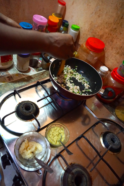 Add 1 table spoon of ginger paste and 1 table spoon of garlic paste